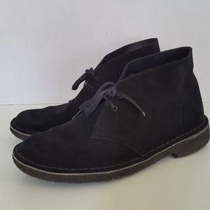 Clarks Originals Black Suede Desert Chukka Boot
